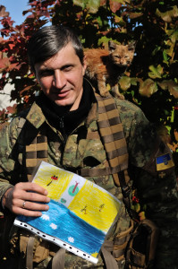 Кіт Рудик побував під бомбардуваннями у Дмитрівці. З Луганщини перевезений до Києва.